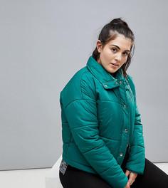Дутая куртка South Beach Plus - Зеленый