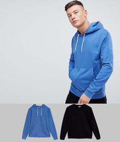Комплект из синего худи и черного свитшота ASOS - СКИДКА - Мульти