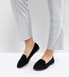 Туфли на плоской подошве для широкой стопы ASOS MEADOW - Черный