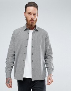 Рубашка навыпуск с узором ломаная клетка ASOS - Черный