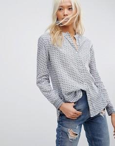Рубашка без воротника Maison Scotch - Синий