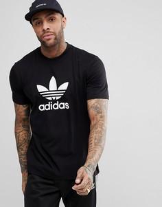 Черная футболка с логотипом adidas Originals adicolor CW0709 - Черный