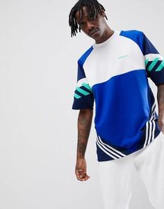 Синяя оversize-футболка в стиле ретро adidas Originals Nova CE4843 - Синий