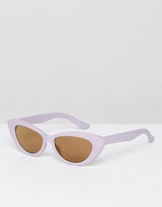 Солнцезащитные очки кошачий глаз ASOS - Фиолетовый