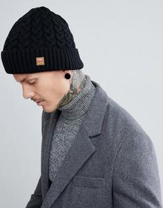 Черная шапка-бини вязки косами Dead Vintage - Черный