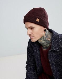 Бордовая меланжевая шапка-бини Dead Vintage - Красный