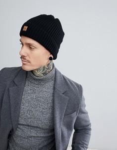 Черная шапка-бини в рубчик Dead Vintage - Черный