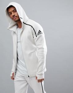 Кремовый худи adidas ZNE 2 CW1347 - Кремовый