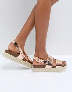 Массивные сандалии ASOS FERGUSON - Бежевый