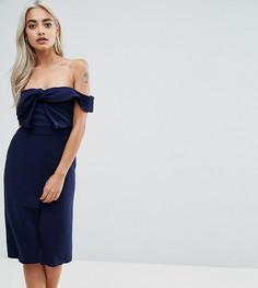 Платье-футляр с узлом True Decadence Petite - Темно-синий