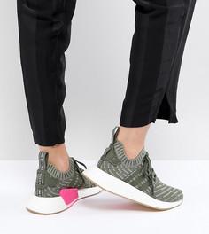 Зеленые кроссовки adidas Originals NMD R2 - Серый