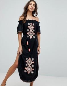 Пляжное платье с вышивкой Seafolly - Черный