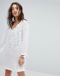 Пляжная накидка с вышивкой ришелье Seafolly - Белый