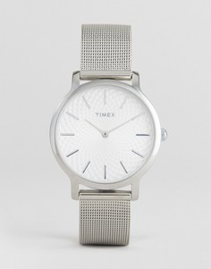 Серебристые часы Timex TW2R36200 Skyline 34 мм - Серебряный