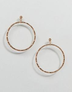 Золотистые серьги-кольца Nylon - Золотой