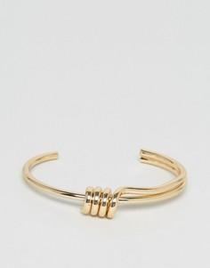 Золотистый браслет с узлом Nylon - Золотой