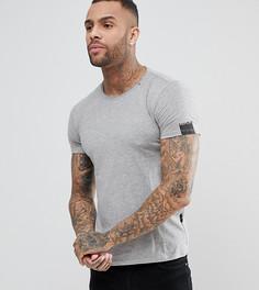 Серая футболка с круглым вырезом Replay - Серый