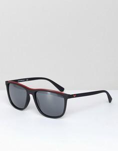 Черные квадратные солнцезащитные очки Emporio Armani 0EA4109 57 мм - Черный
