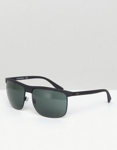 Черные квадратные солнцезащитные очки Emporio Armani 0EA4108 60 мм - Черный