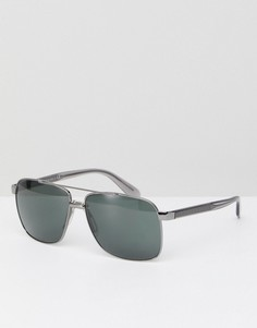 Серебристые солнцезащитные очки-авиаторы Versace 0VE2174 59 мм - Серебряный