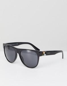 Черные круглые солнцезащитные очки Versace 0VE4346 - 57 мм - Черный