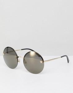 Круглые солнцезащитные очки Versace 0VE2176 - 59 мм - Золотой