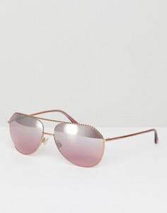 Розовые солнцезащитные очки-авиаторы 59 мм Dolce & Gabbana 0DG2191 - Розовый
