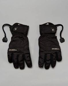 Черные горнолыжные перчатки с флисовой подкладкой ONeill Freestyle - Черный O`Neill