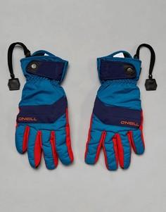 Синие горнолыжные перчатки с флисовой подкладкой ONeill Freestyle - Синий O`Neill