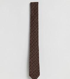 Галстук с узором гусиная лапка Heart & Dagger - Коричневый