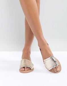 Кожаные летние туфли ASOS JOVENA - Золотой