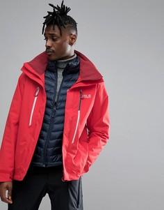 Красная горнолыжная куртка 3 в 1 Jack Wolfskin Exolight - Красный
