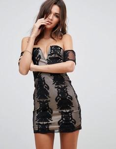 Платье мини с открытыми плечами Love & Other Things - Черный