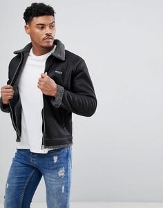 Черная куртка из искусственной цигейки Nicce London - Черный