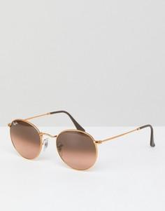 Круглые солнцезащитные очки Ray-Ban 0RB3447 - 50 мм - Золотой