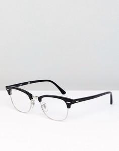 Очки-клабмастеры 51 мм в золотистой оправе Ray-Ban 0RX5154 - Черный