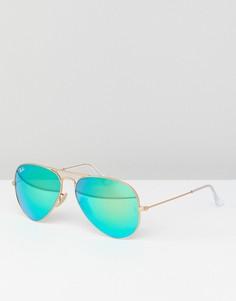 Солнцезащитные очки-авиаторы с зеркальными стеклами Ray-Ban 0RB3025 - 58 мм - Золотой