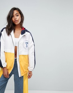 Куртка-дождевик в стиле колор блок Tommy Jeans - Белый