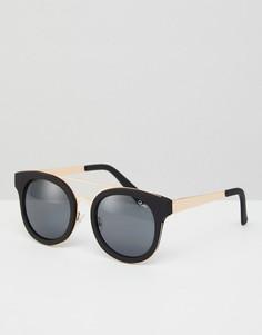 Солнцезащитные очки с планкой Quay Australia Brooklyn - Черный