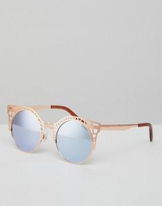 Солнцезащитные очки кошачий глаз с вырезами Quay Australia - Розовый