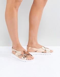 Силиконовые сандалии ASOS FREQUENT - Золотой