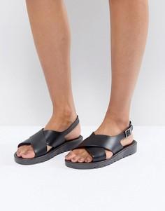 Силиконовые сандалии ASOS FREQUENT - Черный
