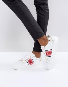 Декорированные кожаные кроссовки Carvela Lax - Белый