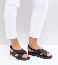 Резиновые сандалии для широкой стопы ASOS FREQUENT - Черный
