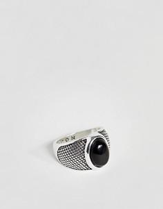 Кольцо-печатка с ониксом Icon Brand - Серебряный