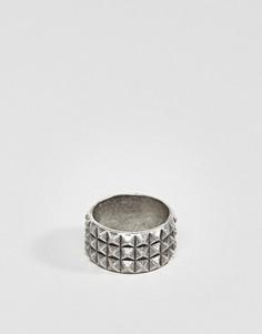 Кольцо с заклепками Steve Madden - Серебряный