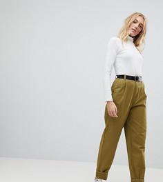 Зауженные брюки с поясом ASOS TALL - Зеленый