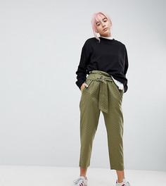 Мягкие брюки цвета хаки в черный горошек ASOS - Зеленый