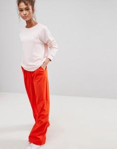 Брюки с широкими штанинами и складками ASOS - Оранжевый