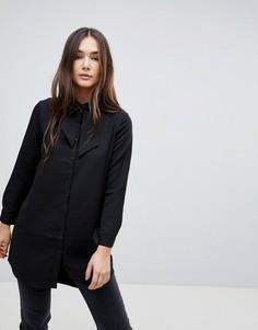 Рубашка с бантом QED London - Черный